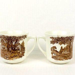 Vintage tea cups J & G Meakin Romantic England